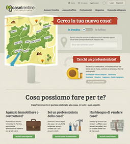 Web design per Case Trentine