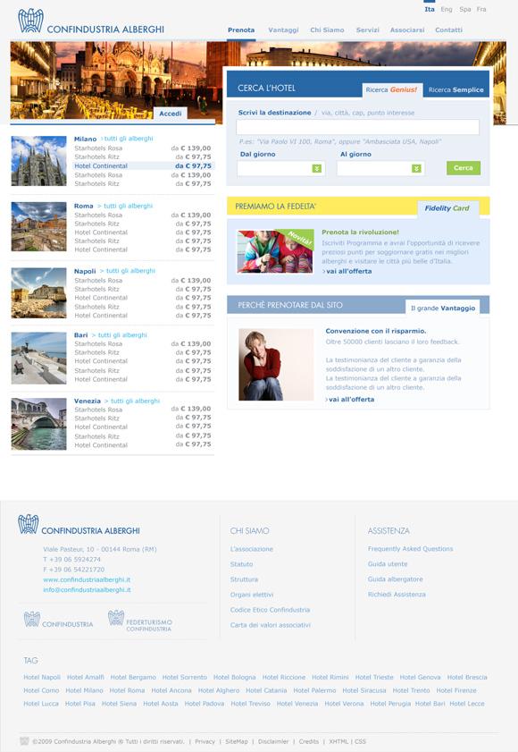 Confindustria alberghi factoria web agency presents its for Confindustria alberghi