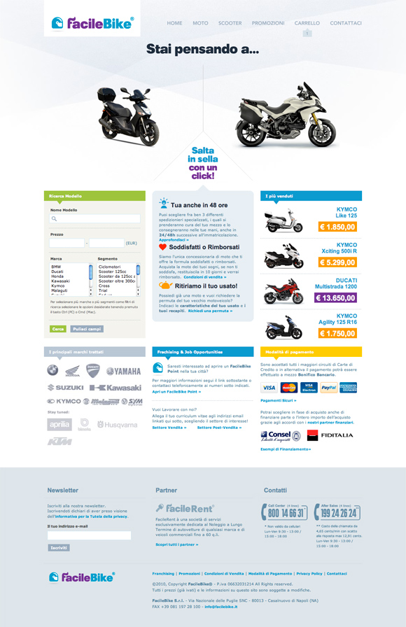 FacileBike website