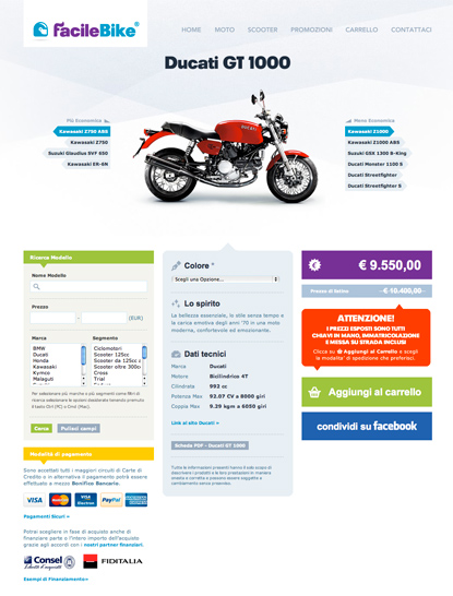 FacileBike - website