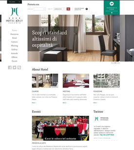 Web design per Hotel Jolly