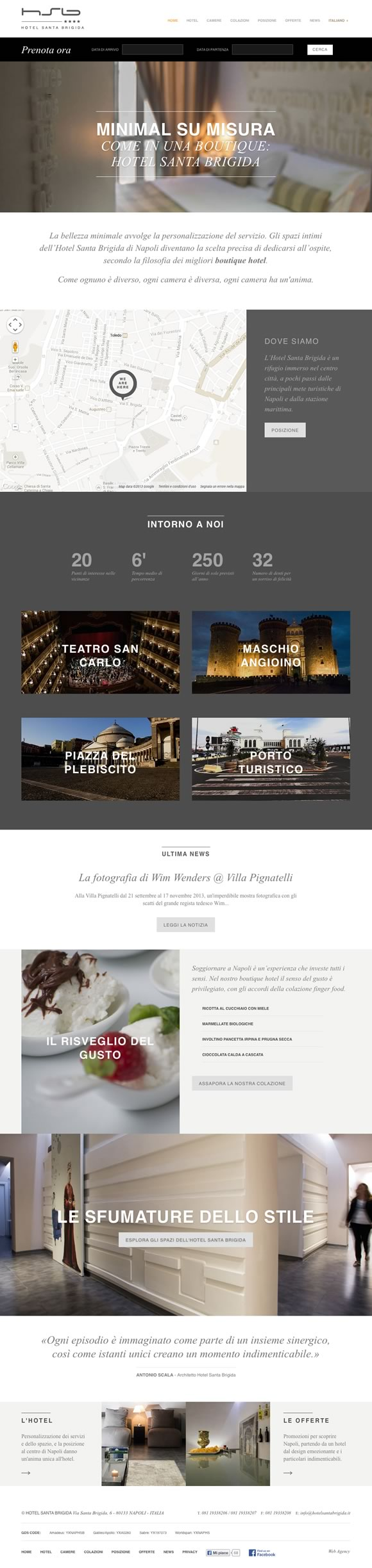 Web design per hotel la web agency presenta il sito del for Hotel web design