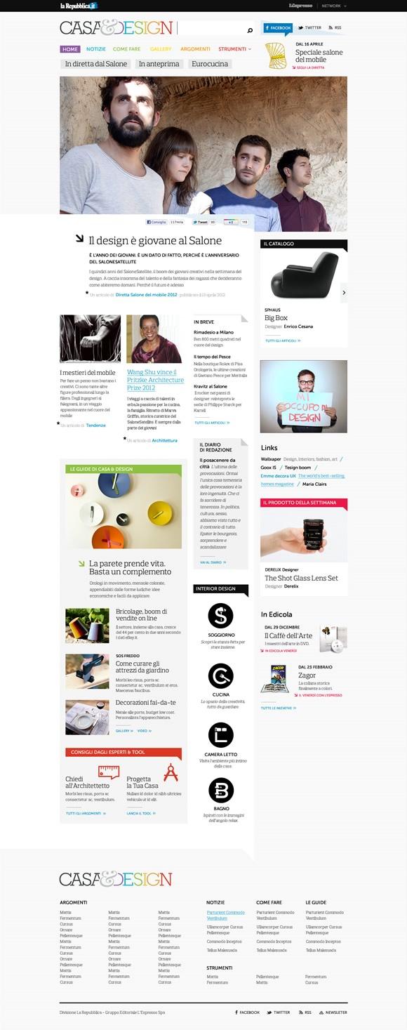 la web agency presenta il sito web di casa